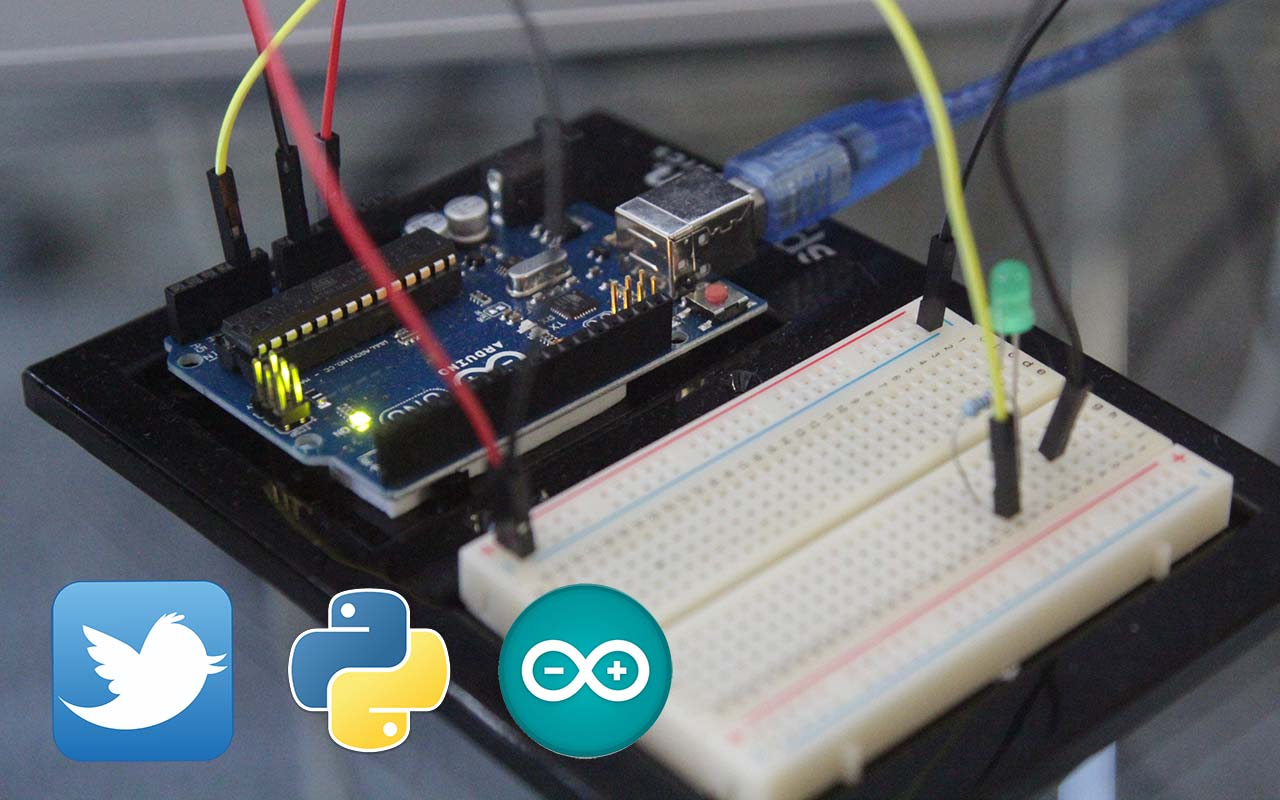 Send commands to Arduino using Python from Twitter