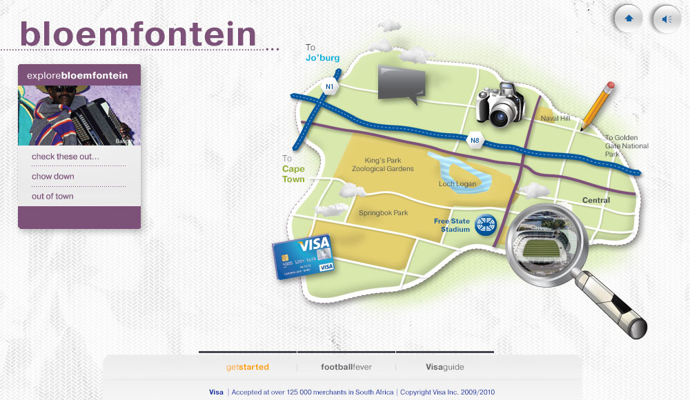 Visa FIFA World Cup 2010 digital travel guide