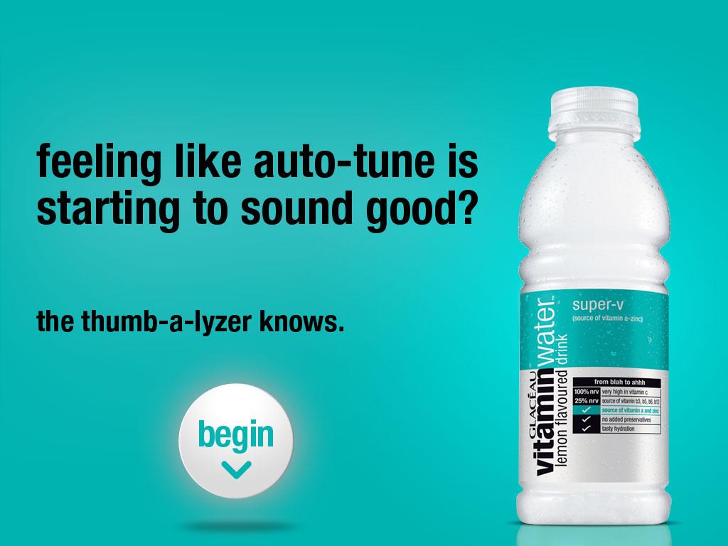 Vitamin Water mobile marketing app