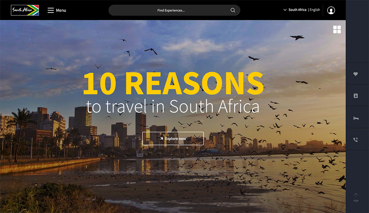 The South African Tourism Website